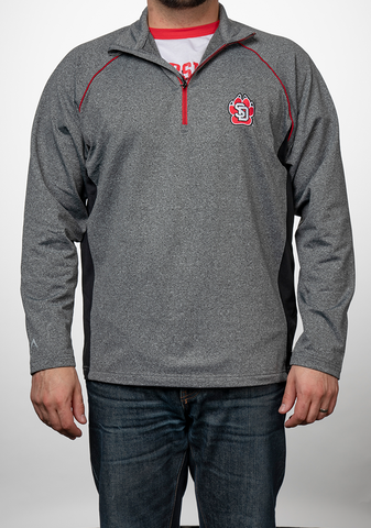 Grey SD Paw Quarter Zip