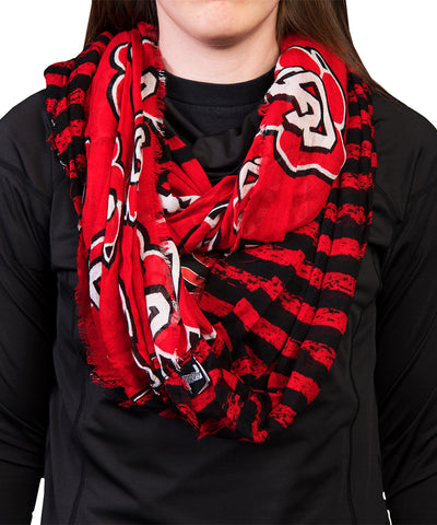 SD Paw Red and Black Infinity Scarf