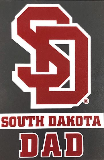 South Dakota Coyotes SD Dad Decal