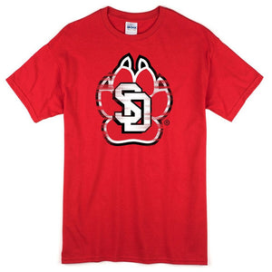 Distressed SD Paw Tee