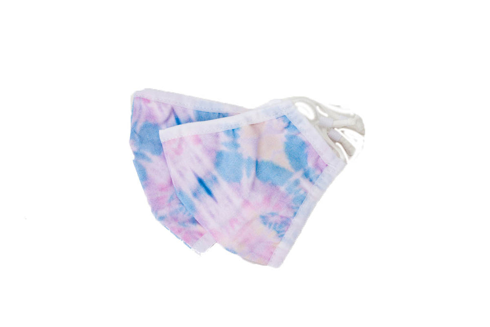 Load image into Gallery viewer, Face Masks Purple Tie Dye Set (2)