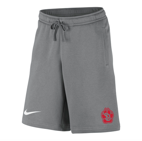 Fleece Short in Dark Gray Paw Logo