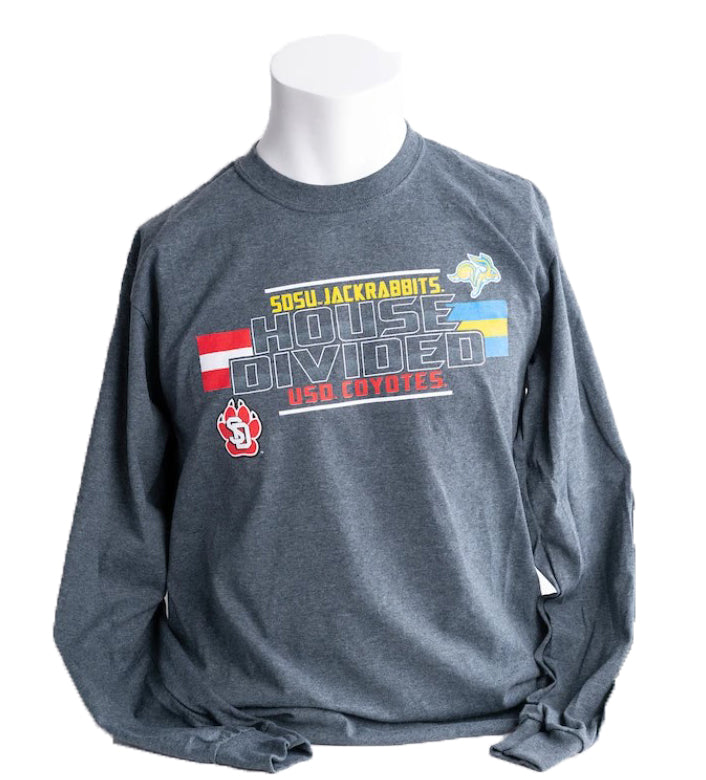 Gray Long-Sleeved House Divided Tee