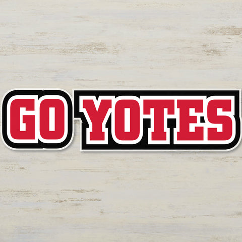 "Decal 8"" x 32"" Go Yotes"