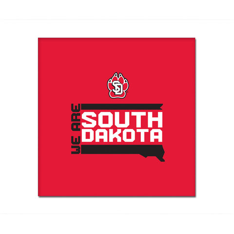 Mini Red Canvas 'We Are South Dakota'