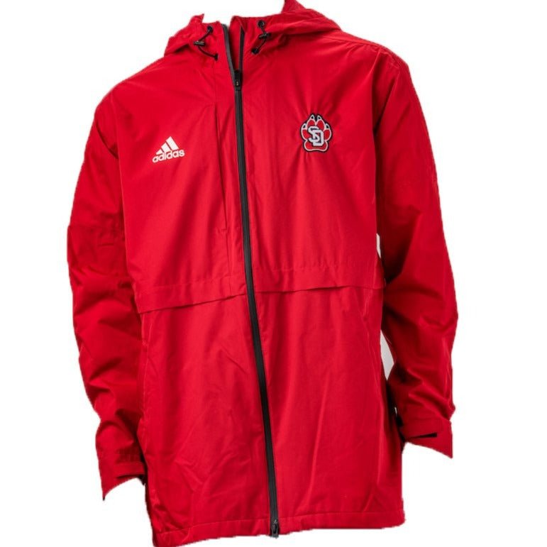 Men's Adidas long Red Jacket with Hood