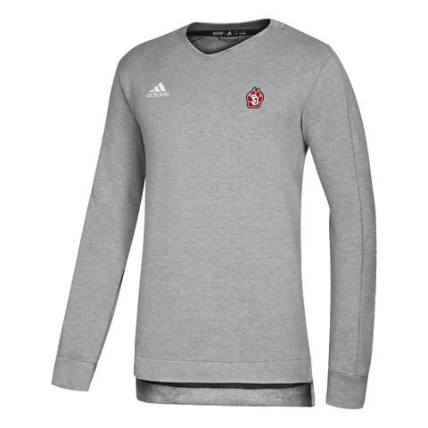 Men's Gray Adidas Long Sleeve Crew