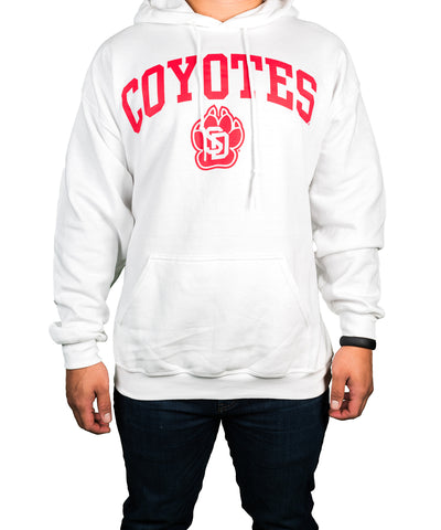 White Coyotes SD Paw Hooded Sweatshirt