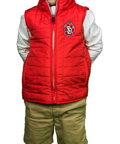Red Quilted Youth Vest