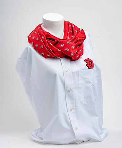 Red SD Paw Scarf