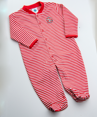 Kid's Striped Romper Footer