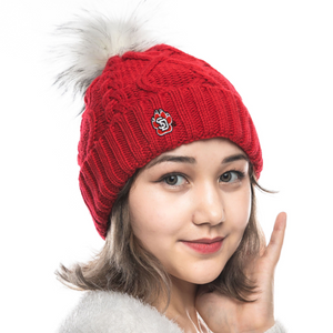 Load image into Gallery viewer, Red Beanie with White Pom SD Paw