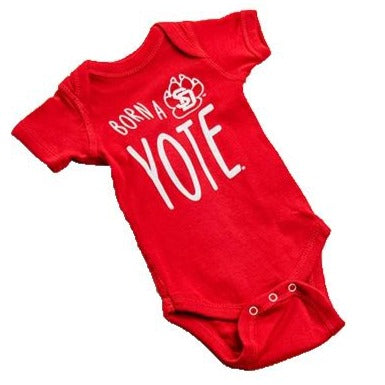 Red Born a Yote Onesie