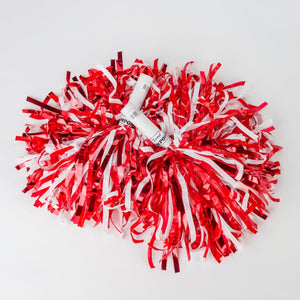 Red & White Metallic South Dakota Coyotes Pom Pom