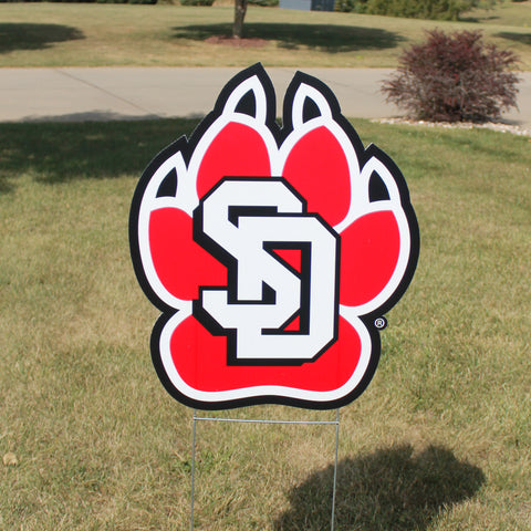 "19.5"" x 23.5"" Paw Print Sign One-Sided with H Stand"