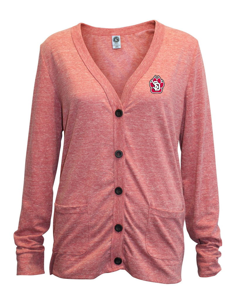 Women's Cardigan Tri-Blend Left Chest SD Paw