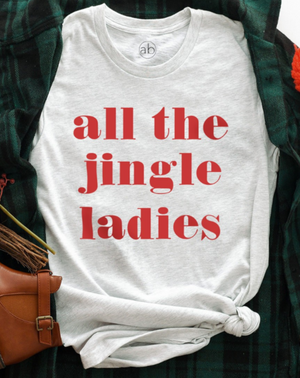 Load image into Gallery viewer, All The Jingle Ladies Gray Tee