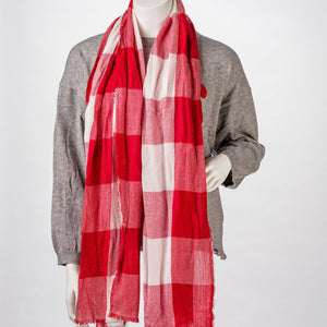 South Dakota Scarf Red And White Buffalo