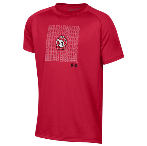 Tee Red S/S Tech Shirt Youth Under Armour