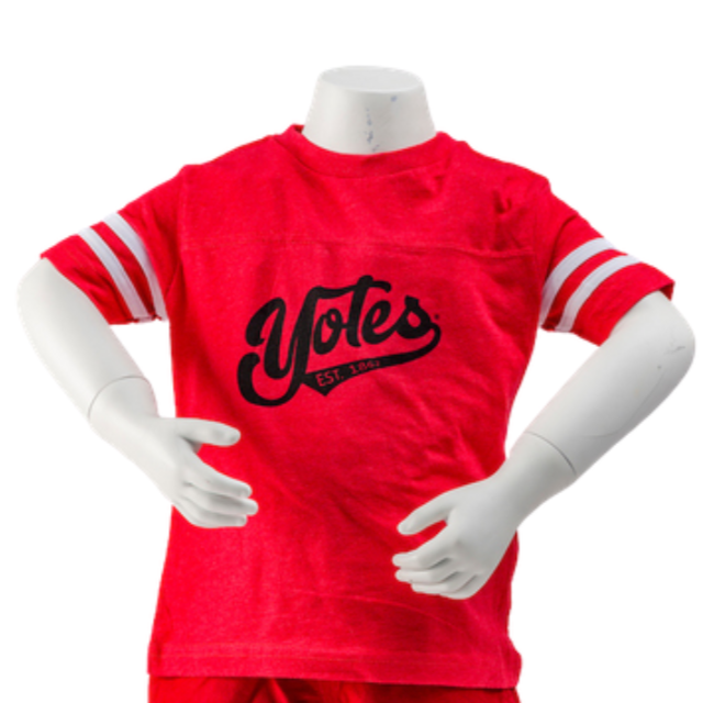 Toddler Tee Red Yote Swipe Design