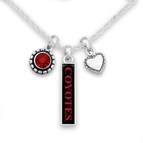 Triple Charm Coyotes Necklace