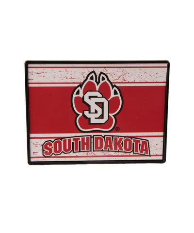 South Dakota Coyotes Plastic SD Paw Trailer Hitch