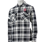 Unisex Flannel Black and White Checked Shirt