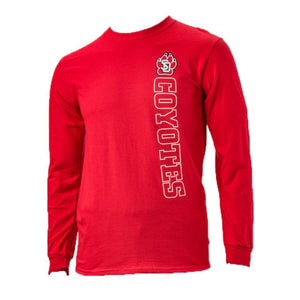 Unisex Red 2 Color Long Sleeve Tee