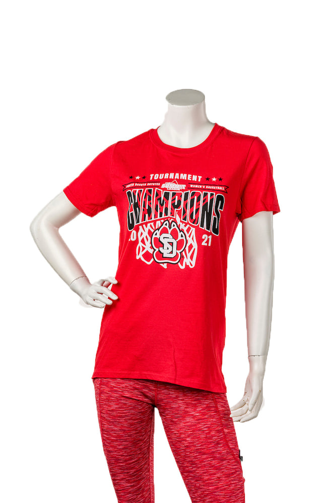 Unisex Red S/S Downtown Screenprinting Summit League Champs 2021