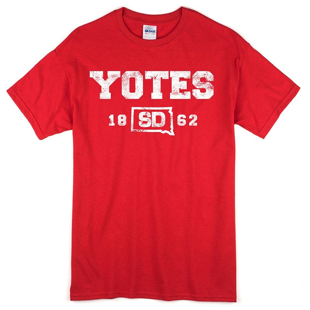 Load image into Gallery viewer, Unisex Red Tee Yotes 1862