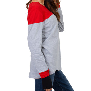 Load image into Gallery viewer, Women's Color Block Long Sleeve Top
