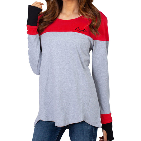 Women's Color Block Long Sleeve Top