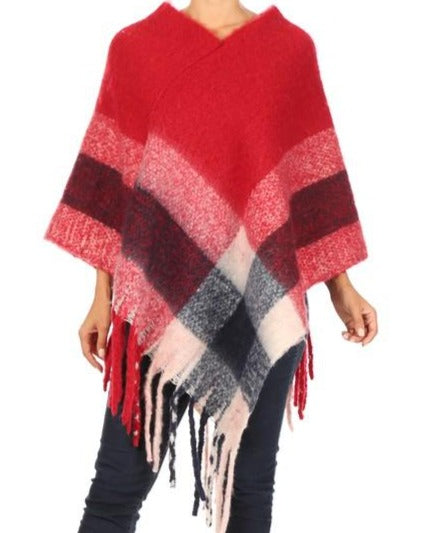 Load image into Gallery viewer, Women's Color Block Poncho
