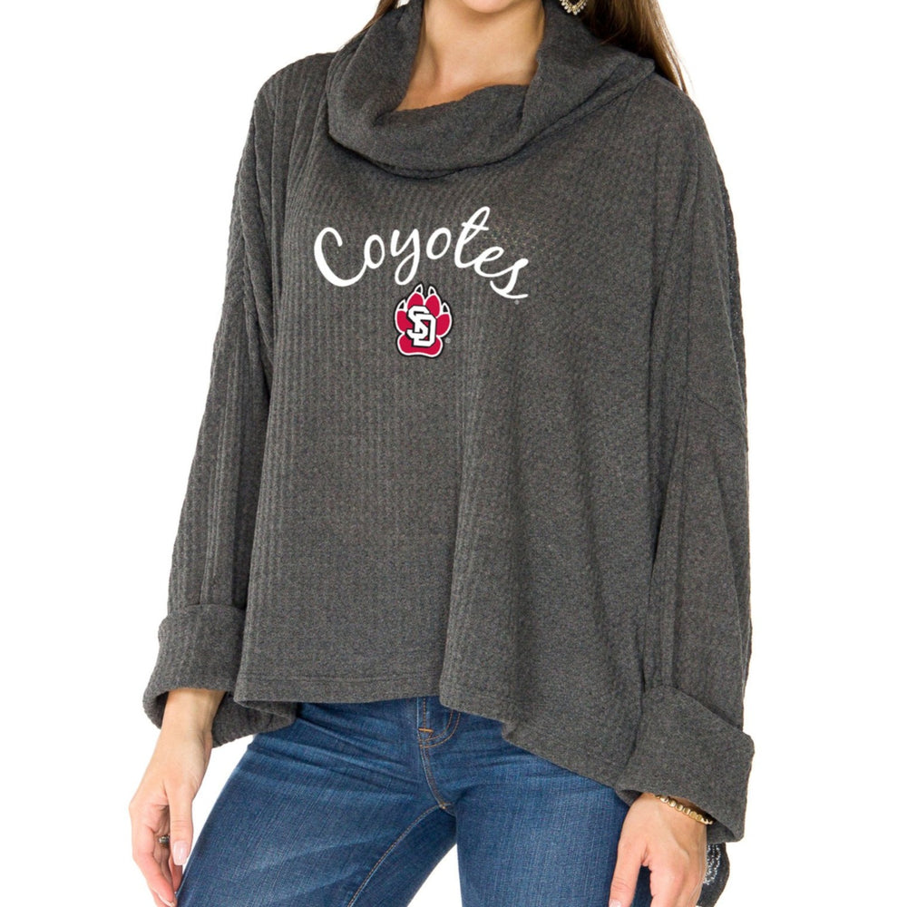 Women's Cowl Neck Thermal Charcoal Coyotes