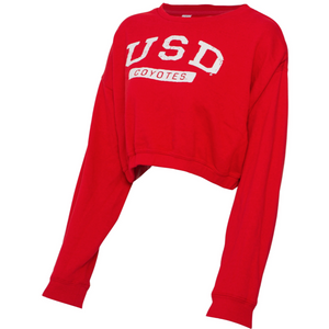 Women's Red Synch Cropped Sweatshirt