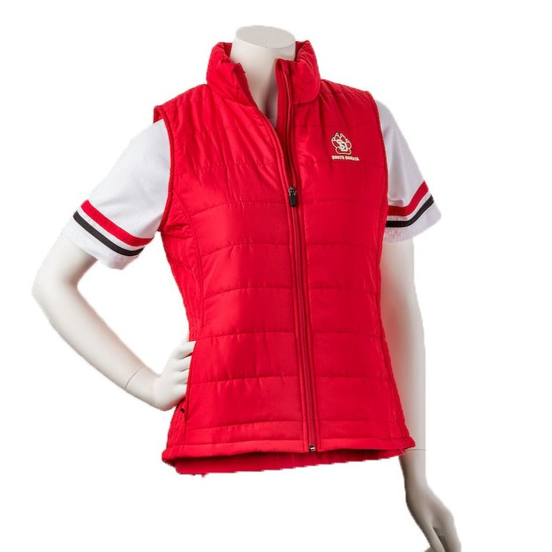 Women's Red Vest SD Paw LC