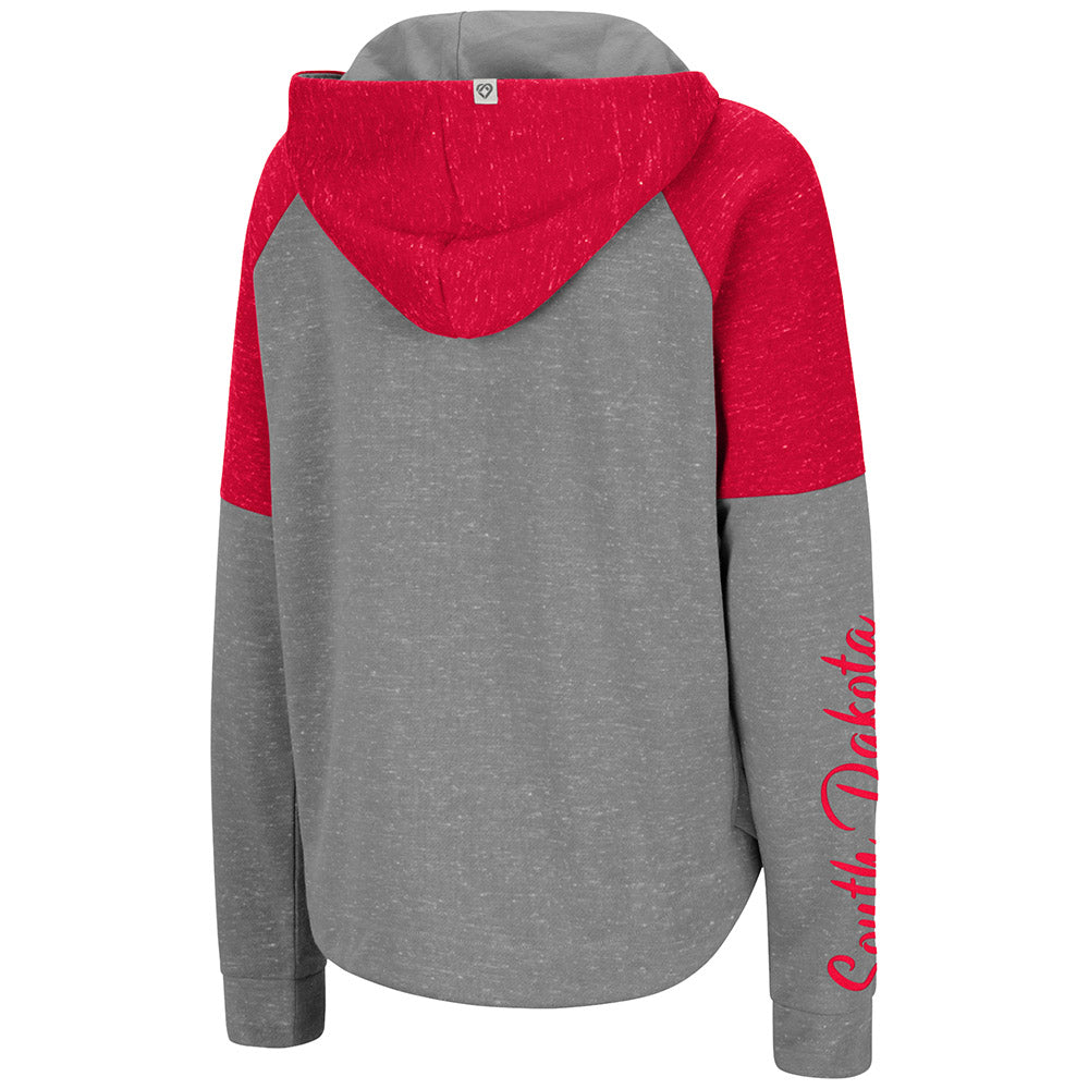 Women's Fleece Full-zip Color-block SD Paw