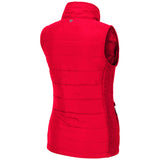 Women's Red Puff Vest SD Paw