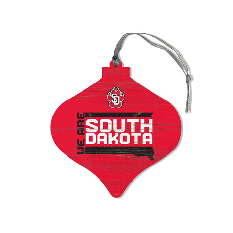 "Wooden Christmas Ornament Red ""We are SD"""