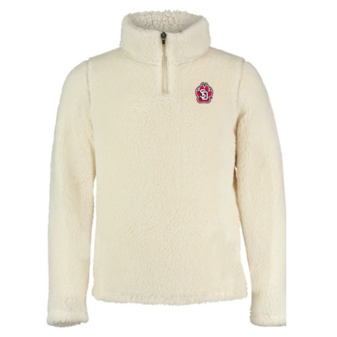 Youth Cream 1/4 Zip Sherpa