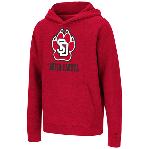 Youth Red Hoodie with Tackle Twill SD Paw