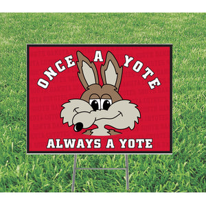 "18"" x 24"" Yard Sign Two-Sided with H Stand"