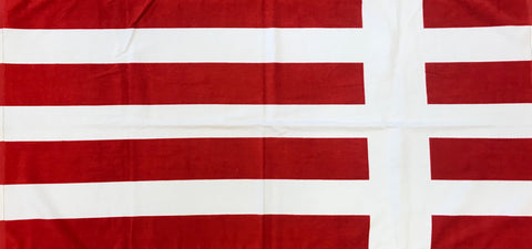 Beach Towel Red and White No Logo