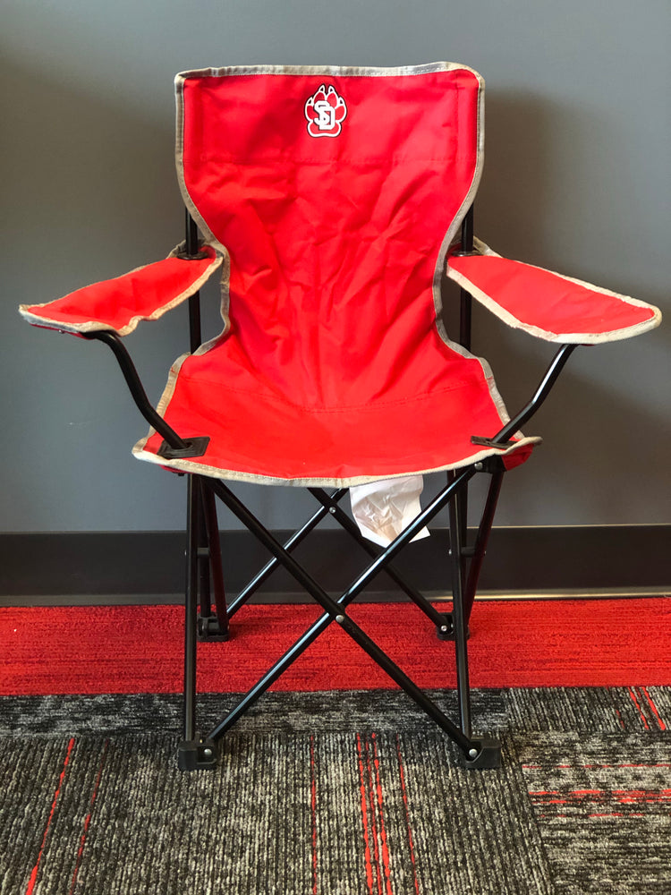 South Dakota Coyotes Red Youth Camp Chair