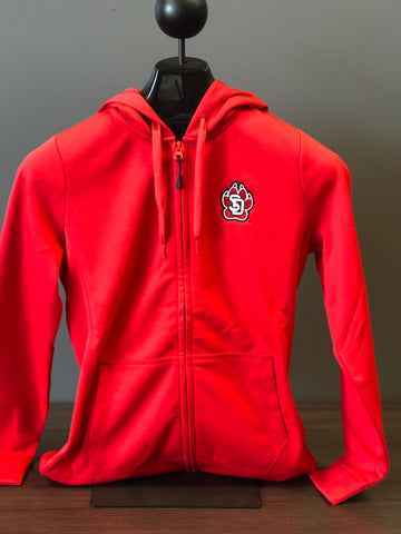Full Zip Hoodie Red SD Paw Women's