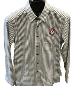 Black and White Checked Shirt Men's