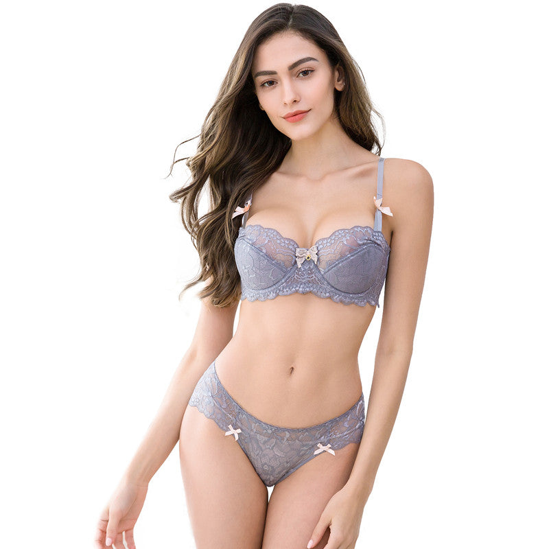 Ultra Thin Lace Lingerie Set