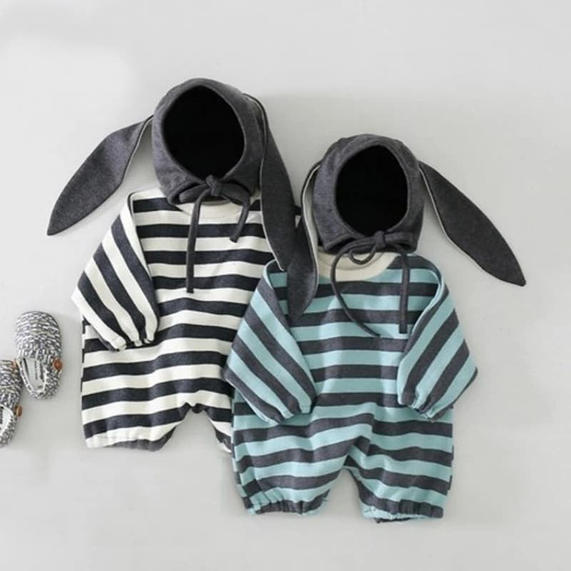 Cute Hooded Rabbit Ears Romper