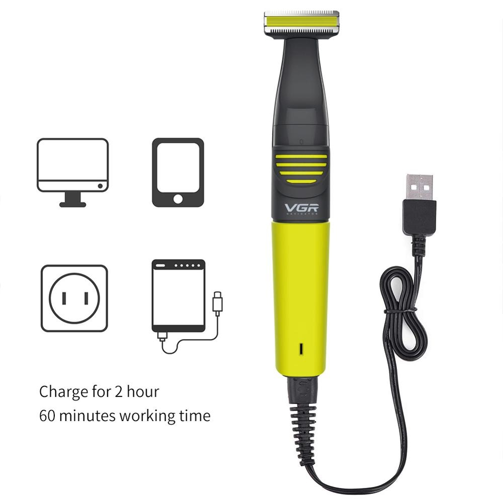 2 in 1 Rechargeable Nose Ear Hair Trimmer