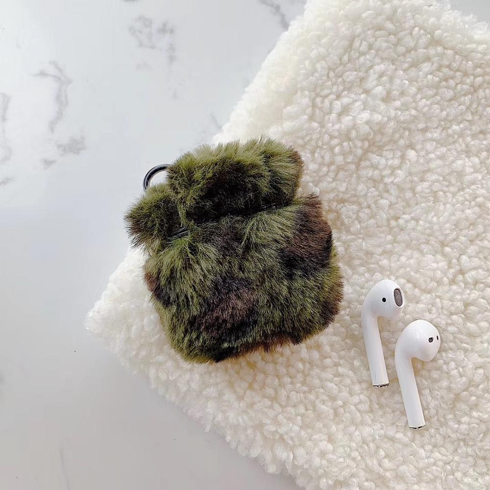 Warm Fuzzy Leopard AirPods Protective Cover